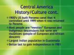 central america history culture cont
