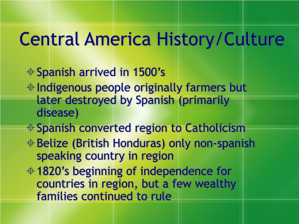 Central America History/Culture