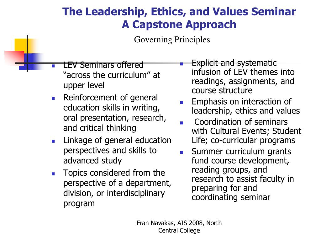 """LEV Seminars offered """"across the curriculum"""" at upper level"""