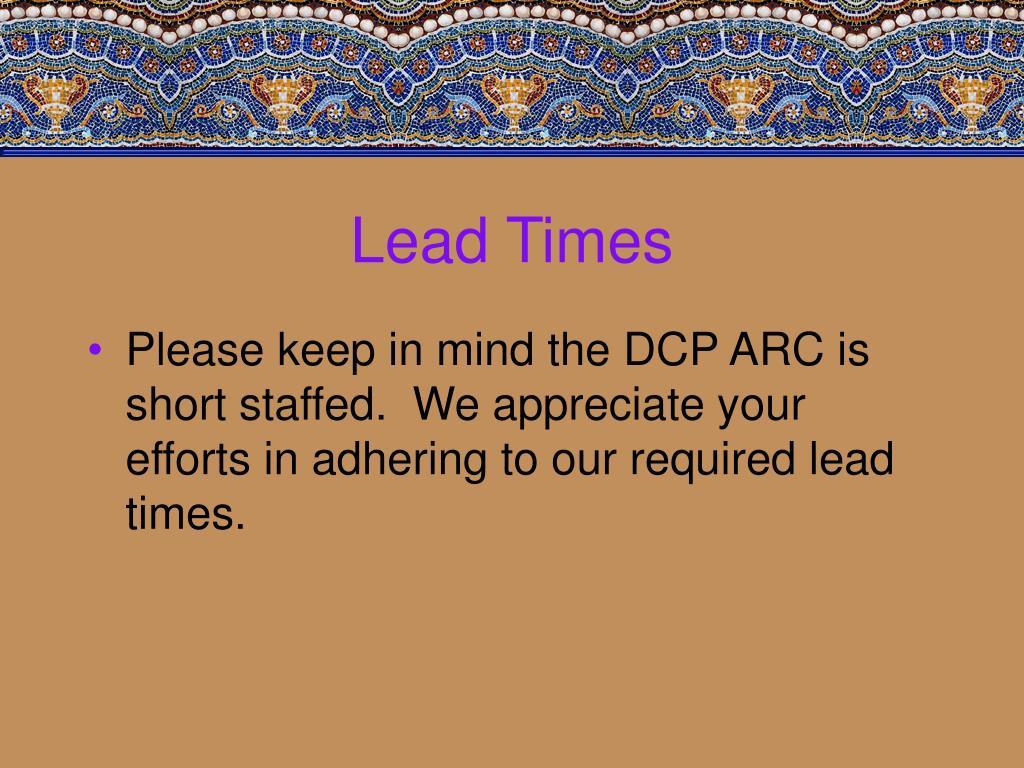 Lead Times