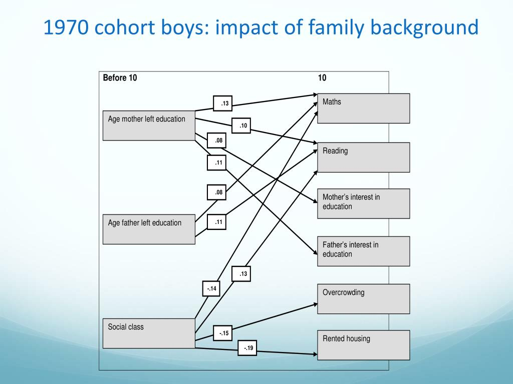 1970 cohort boys: impact of family background