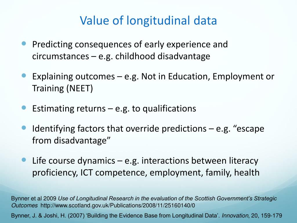 Value of longitudinal data