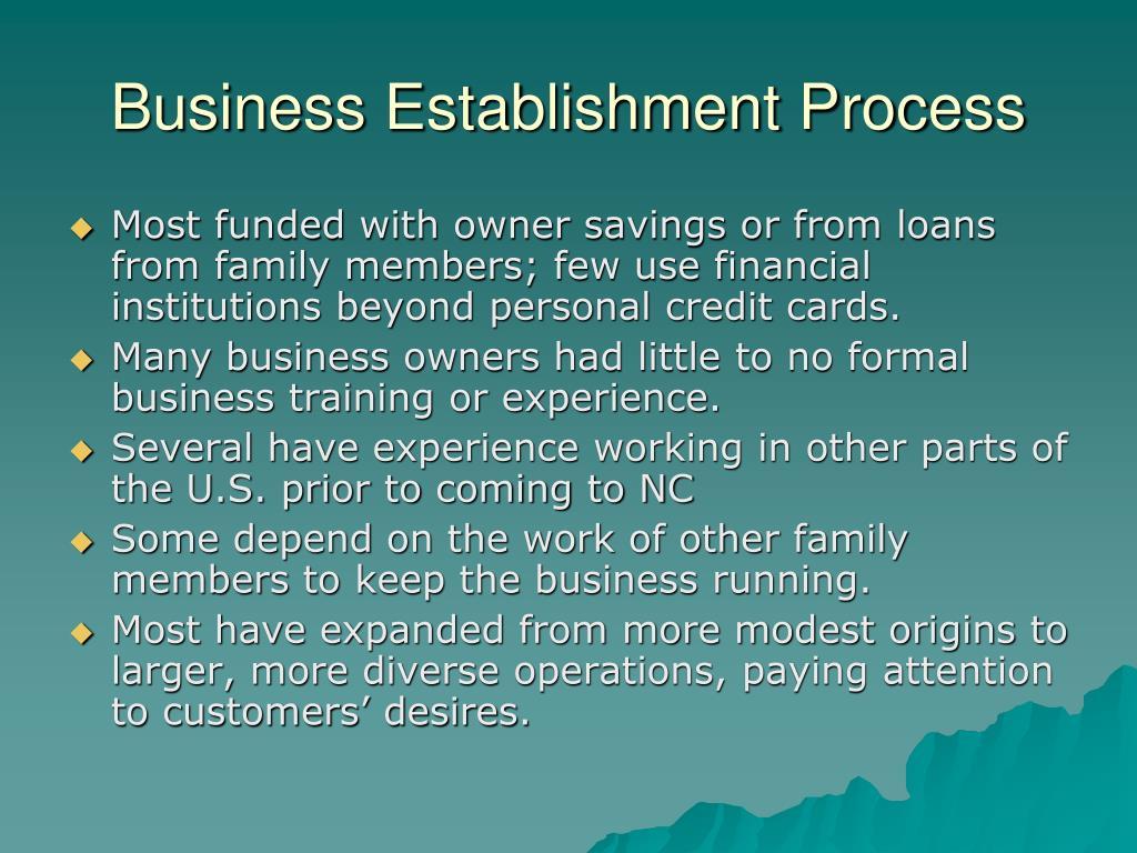 Business Establishment Process