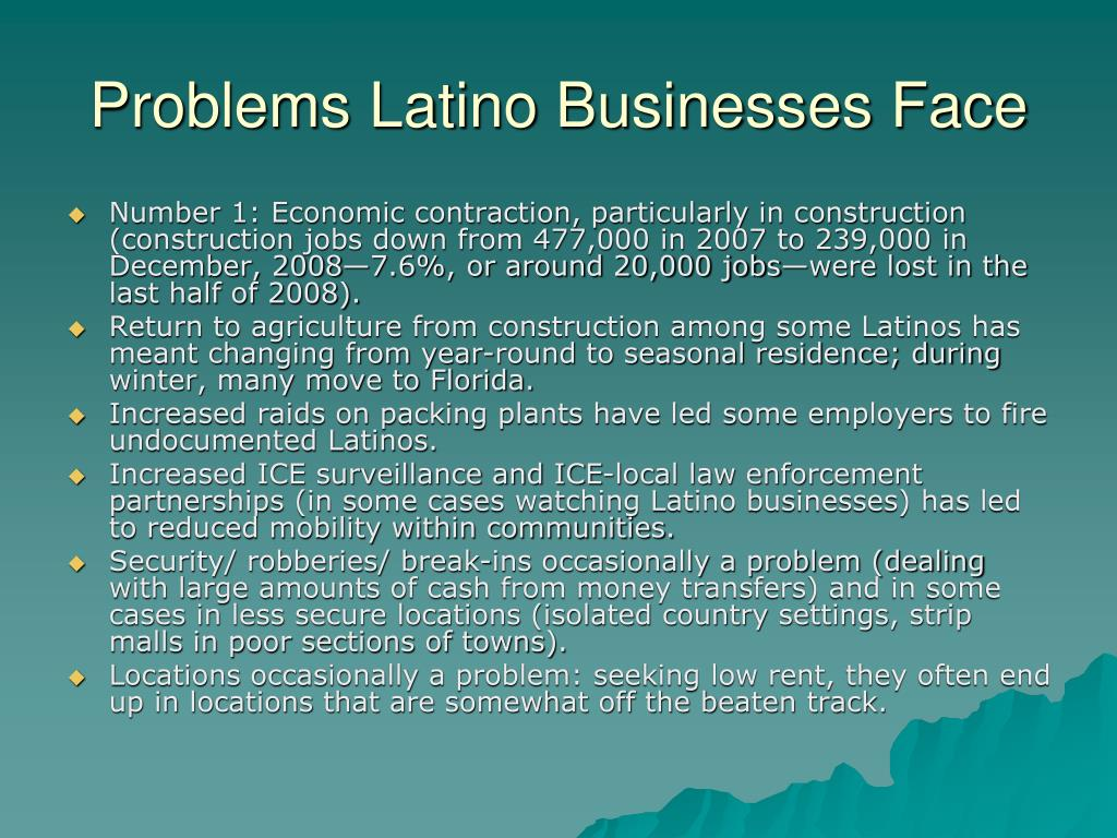 Problems Latino Businesses Face
