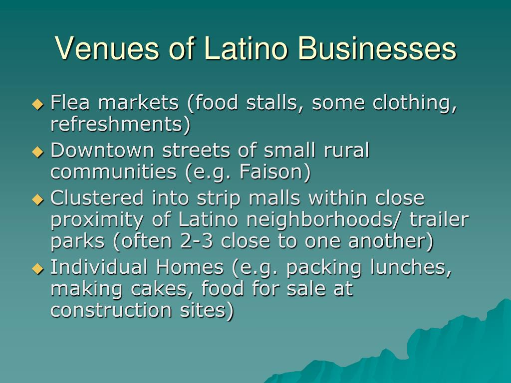Venues of Latino Businesses