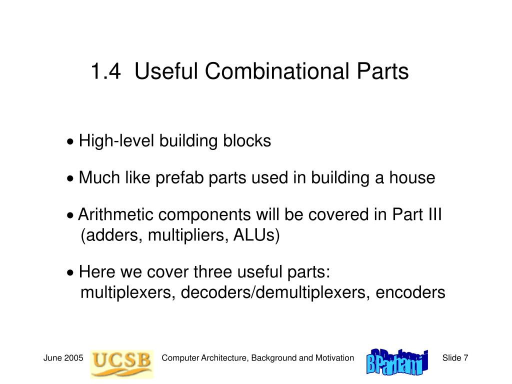 1.4  Useful Combinational Parts