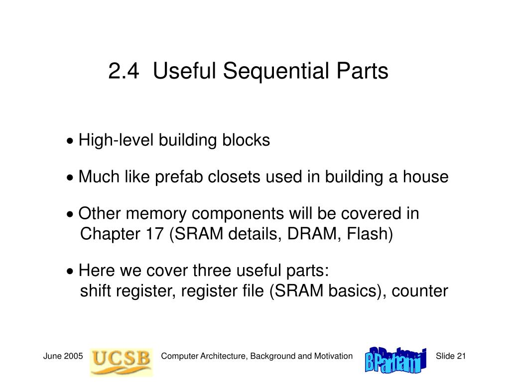 2.4  Useful Sequential Parts