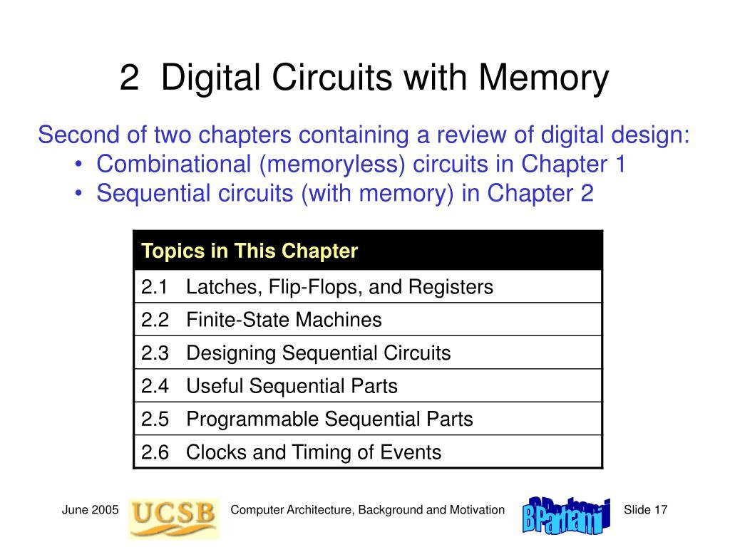 2  Digital Circuits with Memory