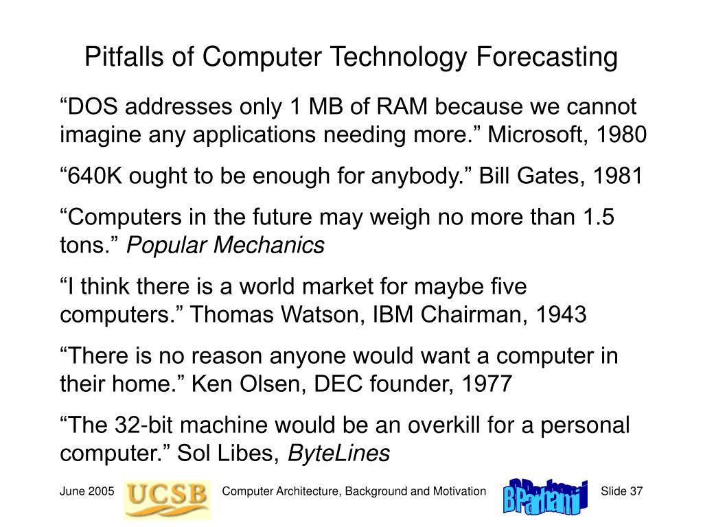 Pitfalls of Computer Technology Forecasting