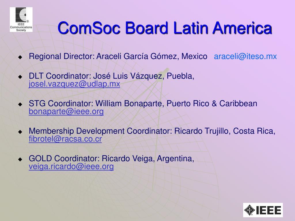 ComSoc Board Latin America