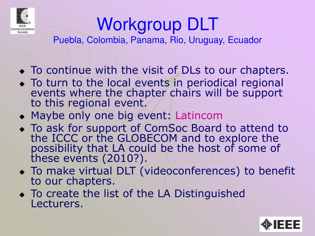 Workgroup DLT