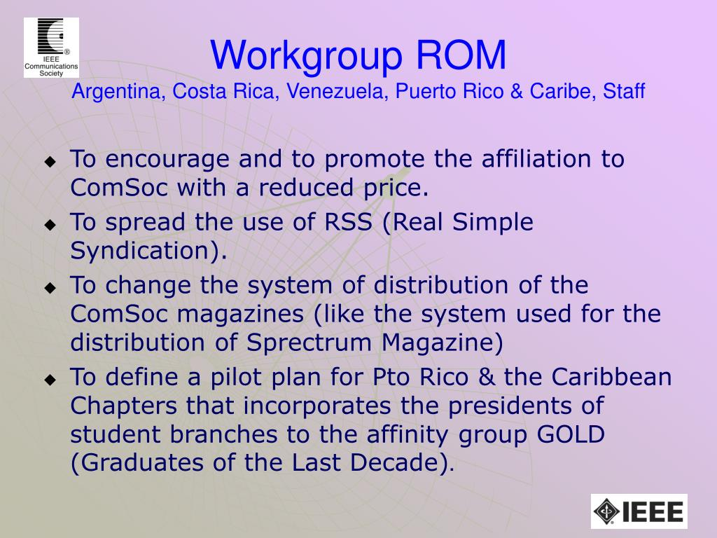 Workgroup ROM