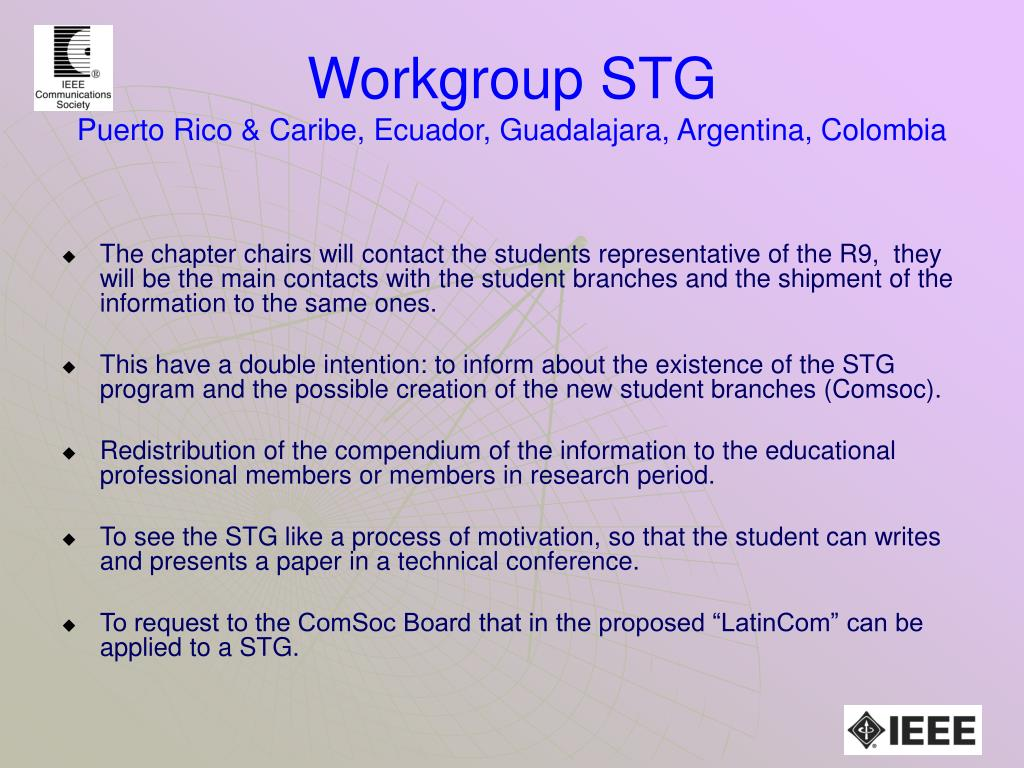 Workgroup STG