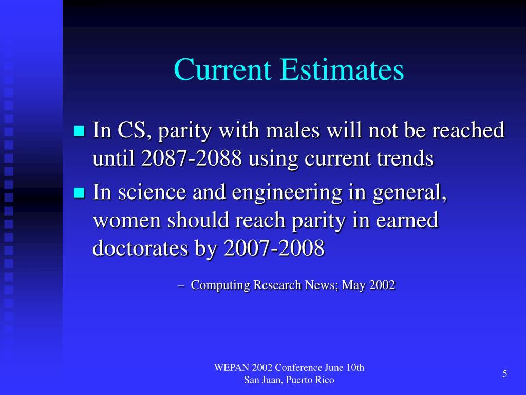 Current Estimates