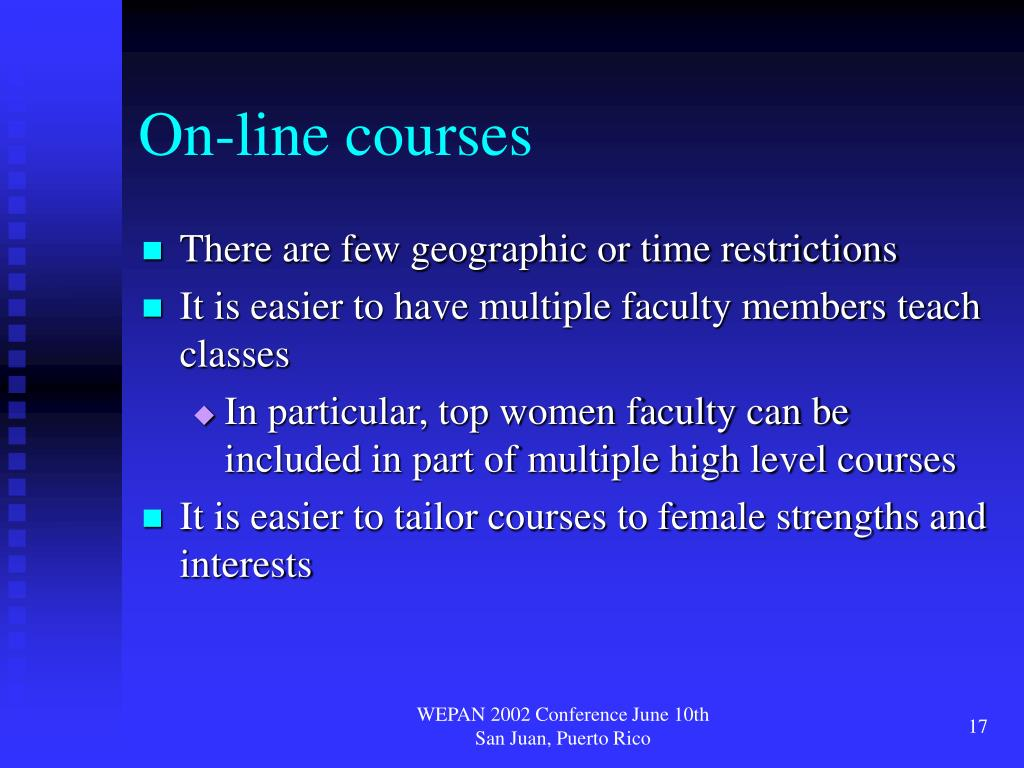 On-line courses