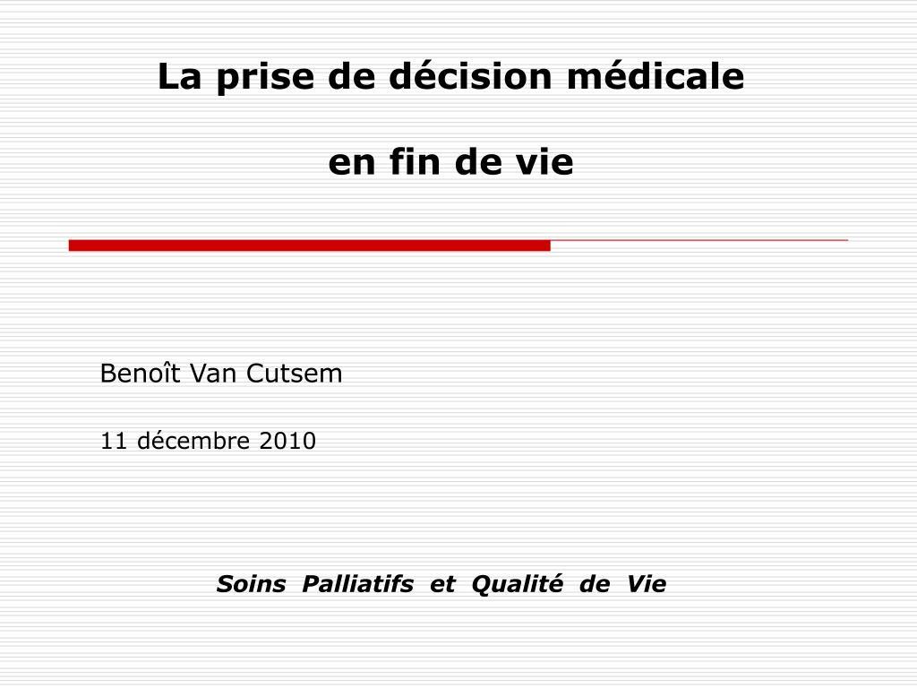 La prise de décision médicale