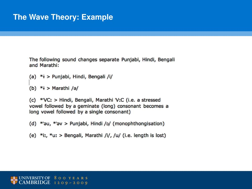 The Wave Theory: Example