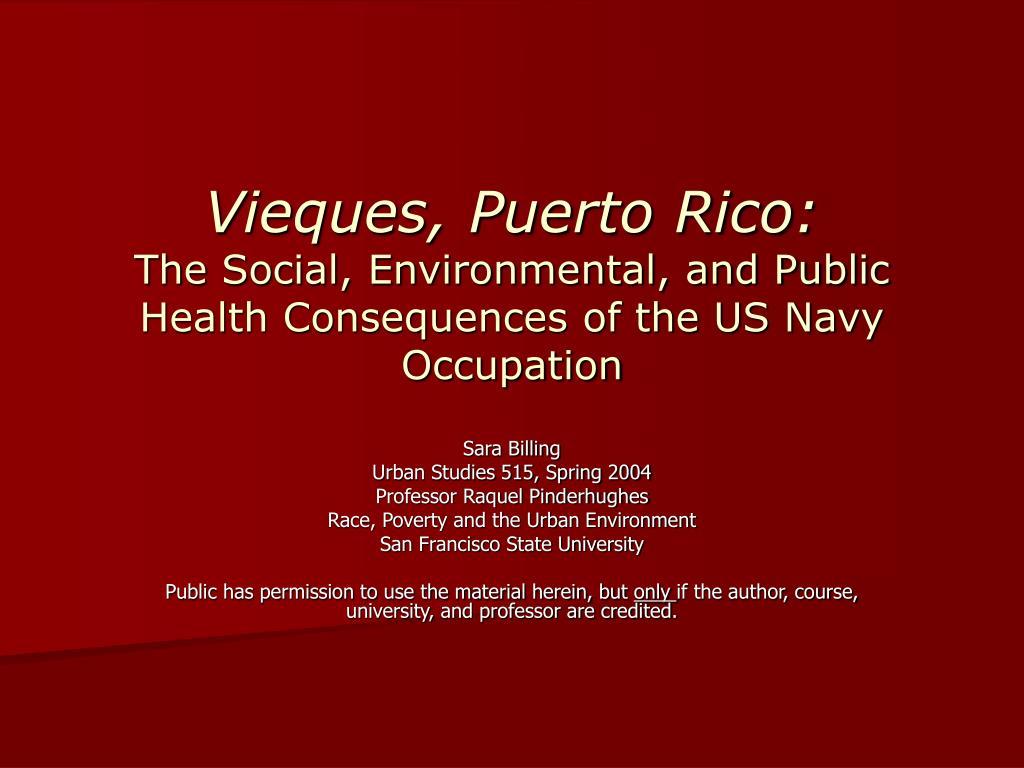 Vieques, Puerto Rico: