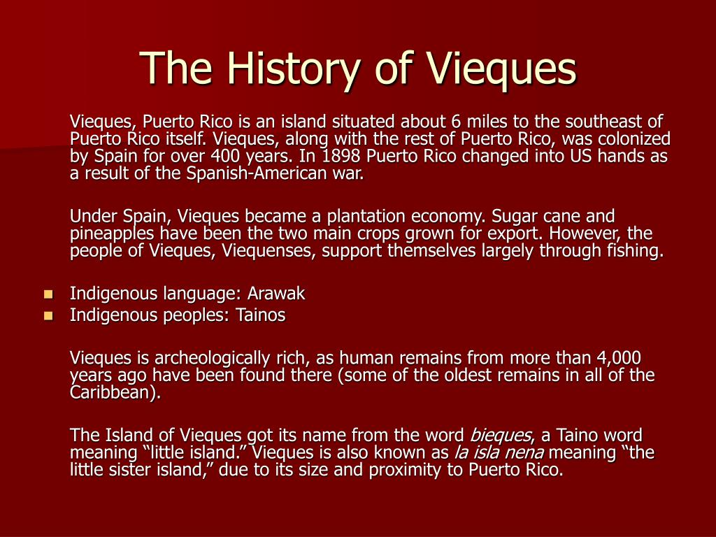 The History of Vieques