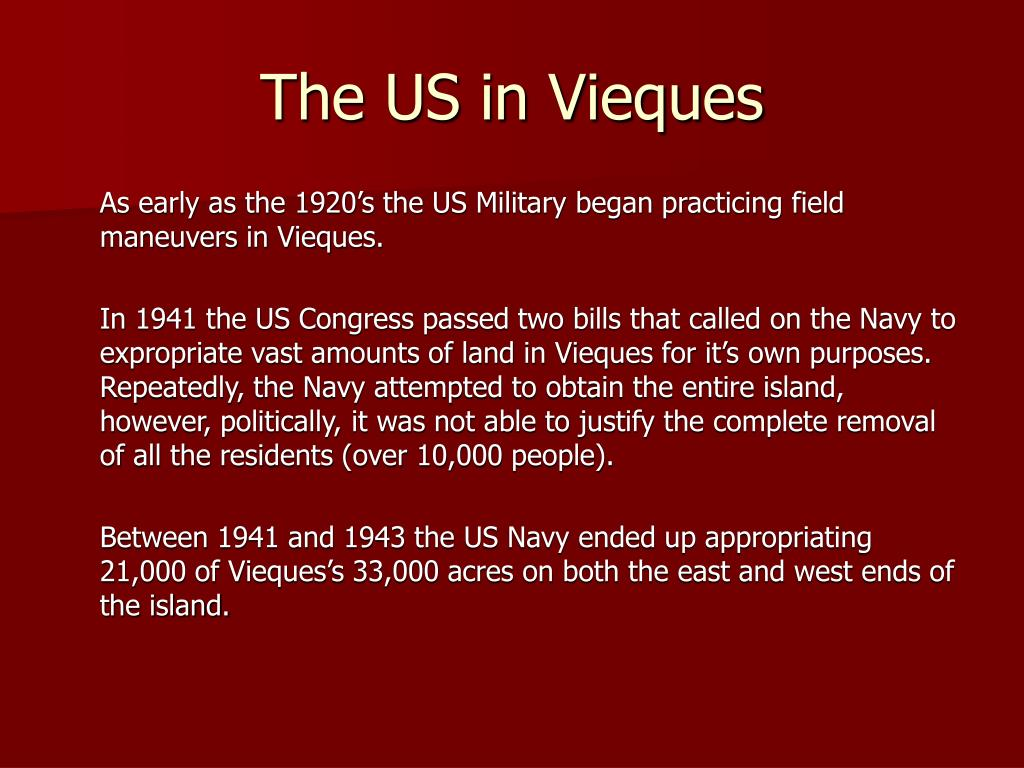 The US in Vieques