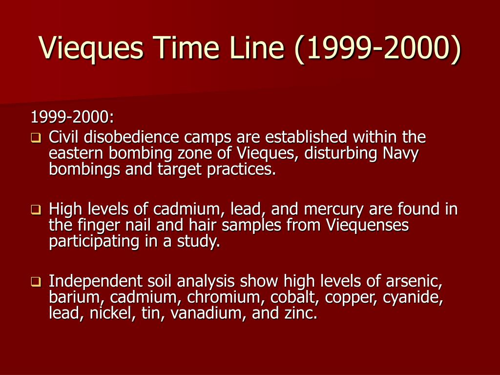Vieques Time Line (1999-2000)