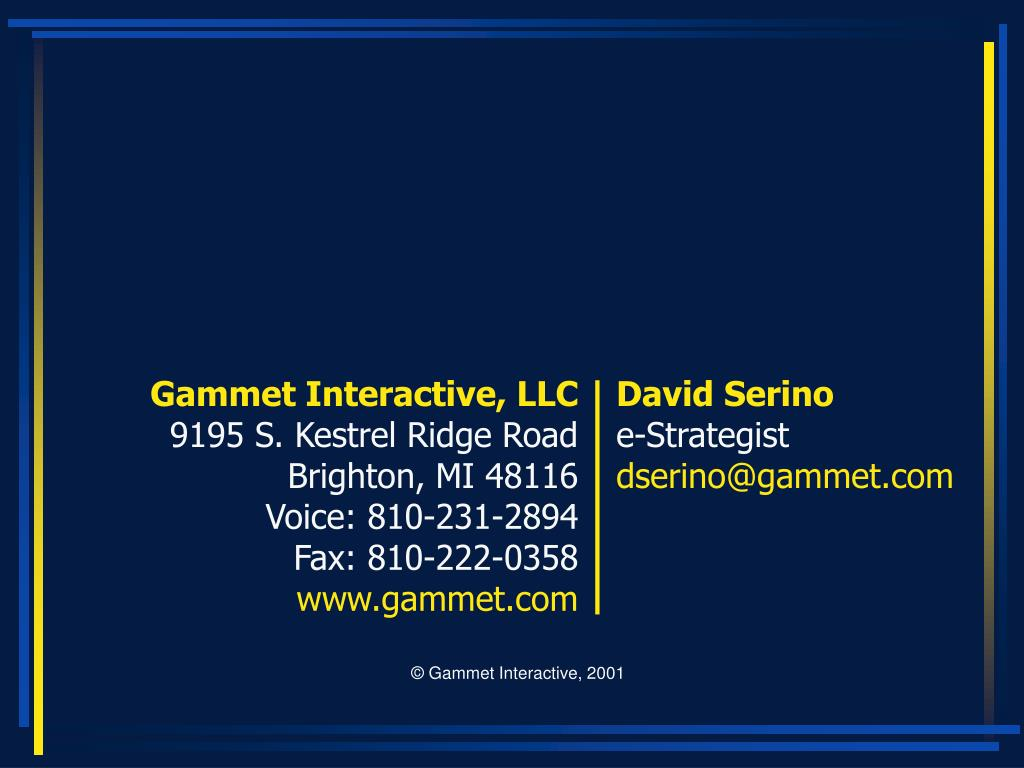 Gammet Interactive, LLC
