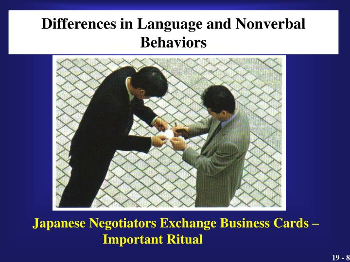Differences in Language and Nonverbal Behaviors