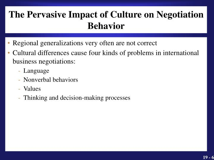 The Pervasive Impact of Culture on Negotiation Behavior