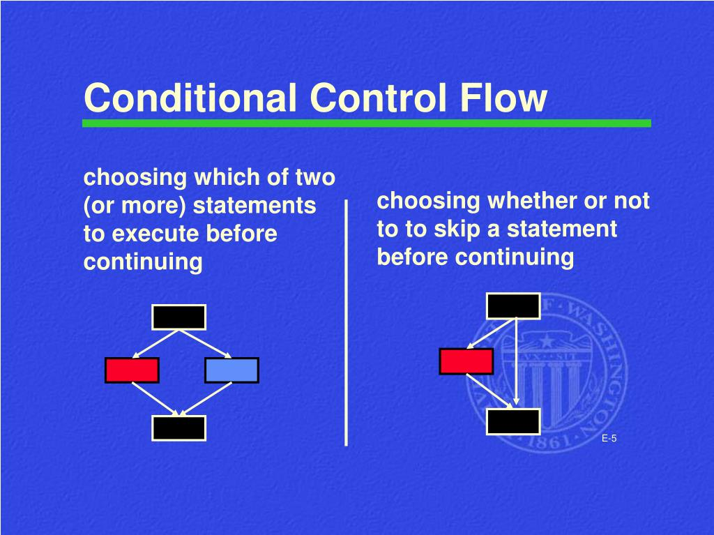 Conditional Control Flow