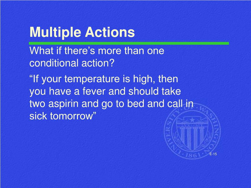 Multiple Actions