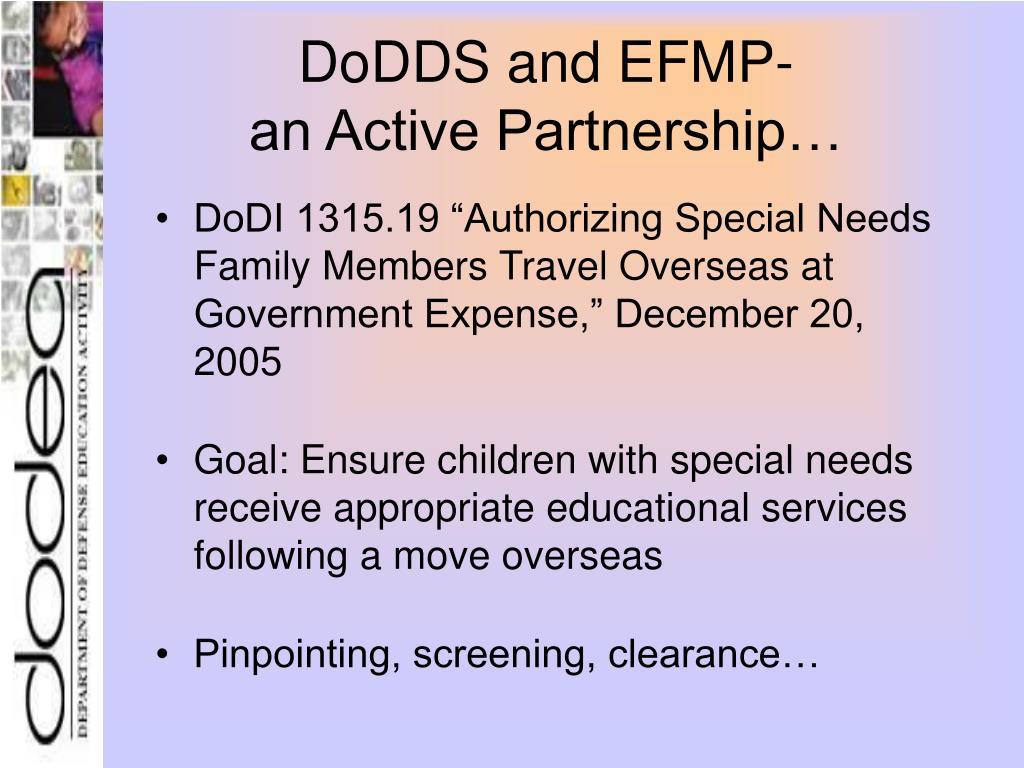 DoDDS and EFMP-