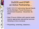 dodds and efmp an active partnership