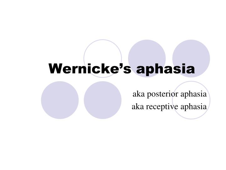 Wernicke's aphasia