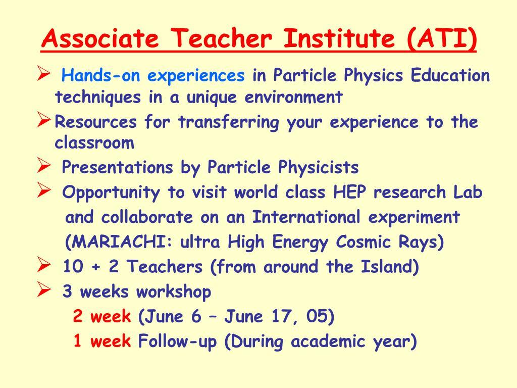 Associate Teacher Institute (ATI)