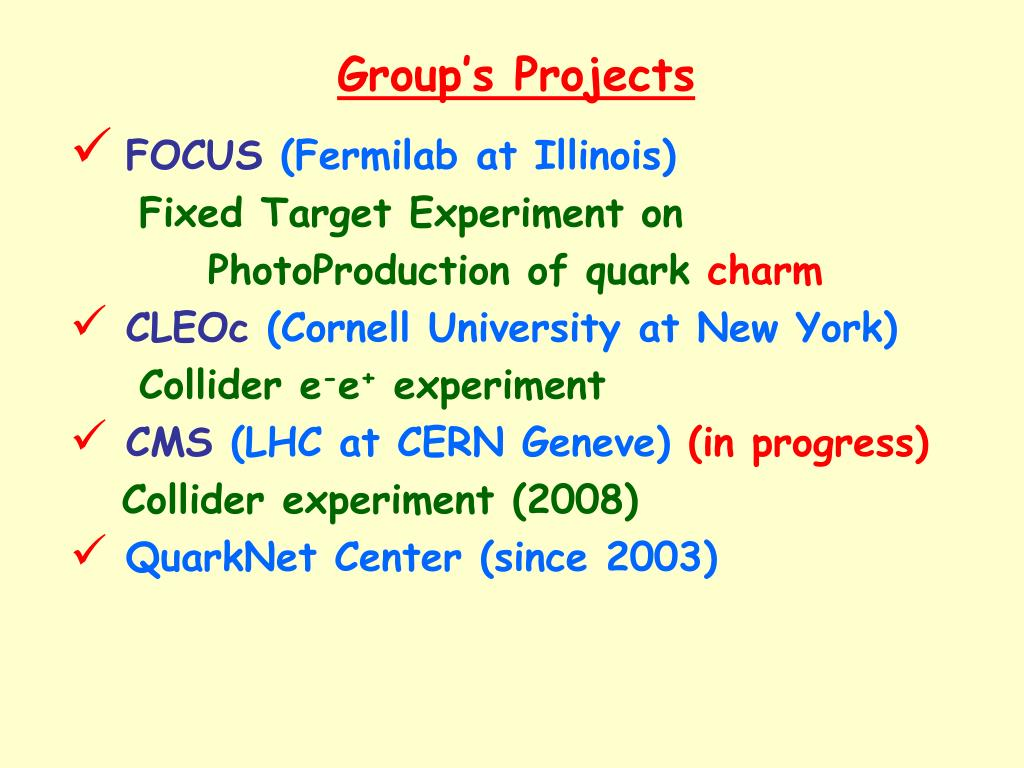 Group's Projects