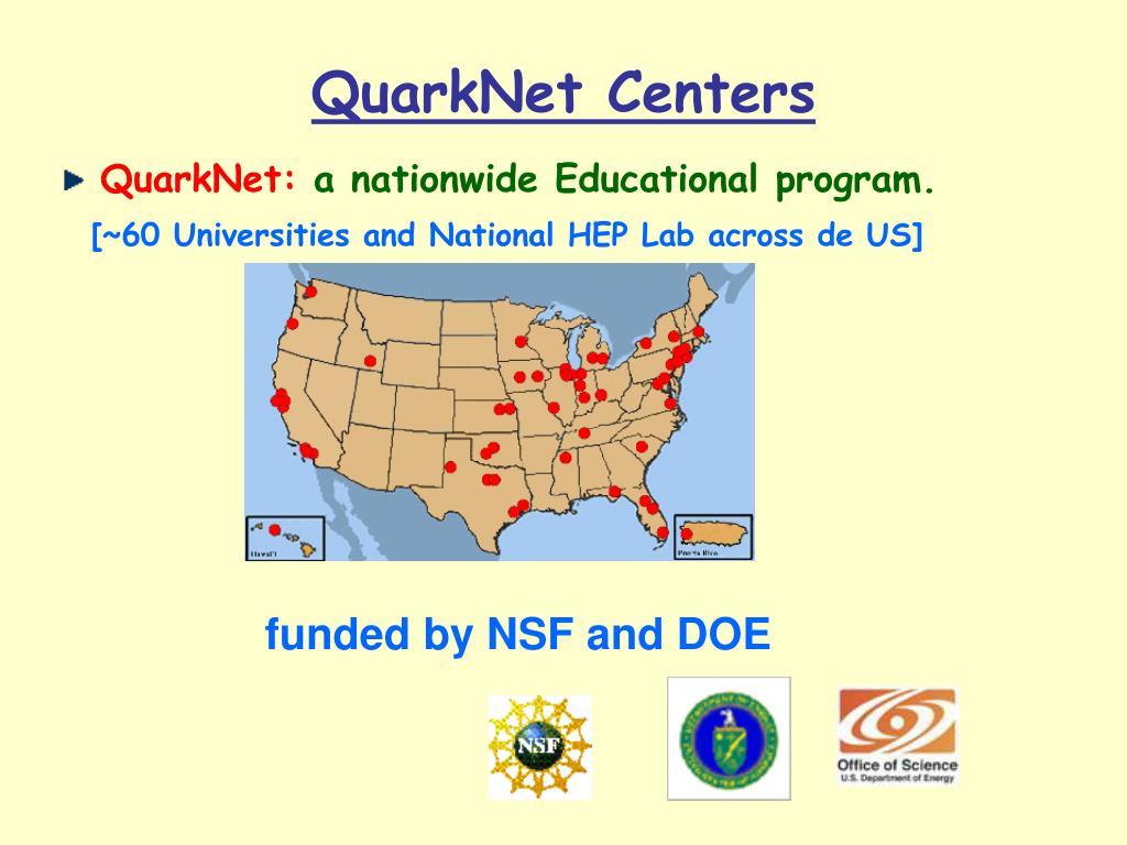 QuarkNet Centers