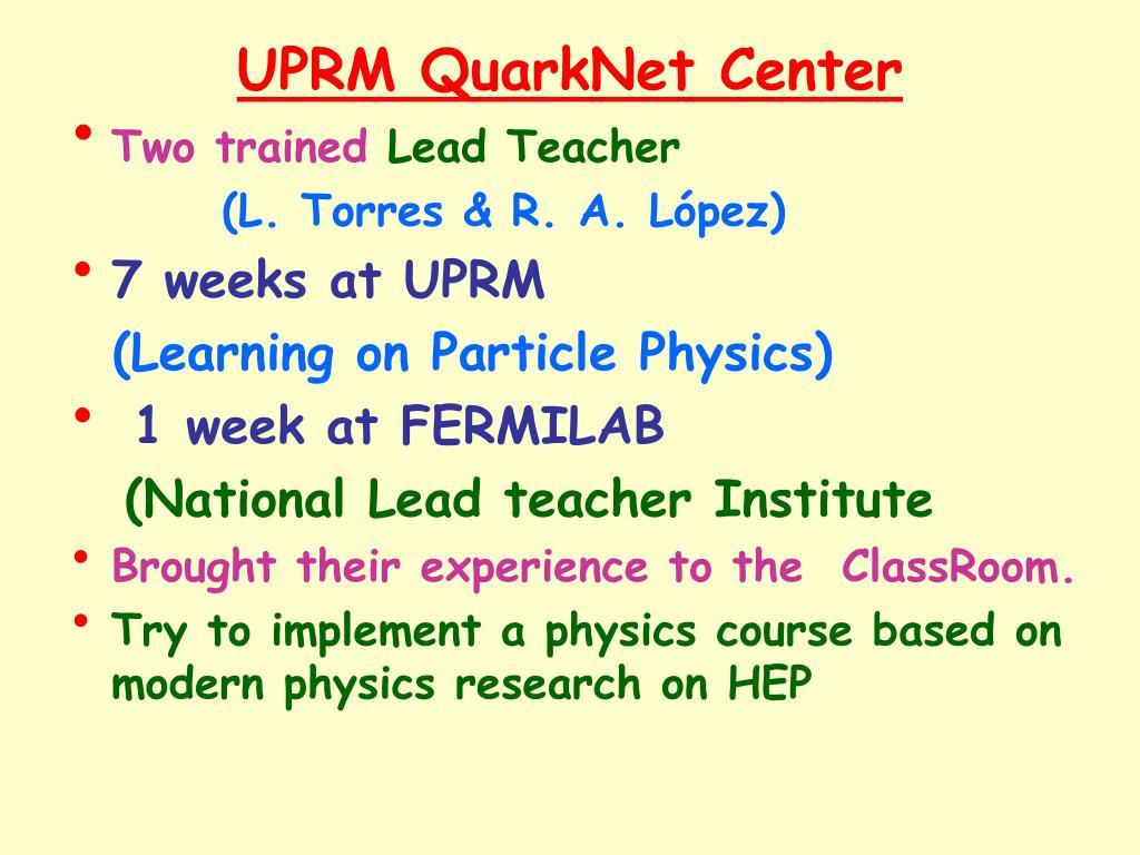 UPRM QuarkNet Center