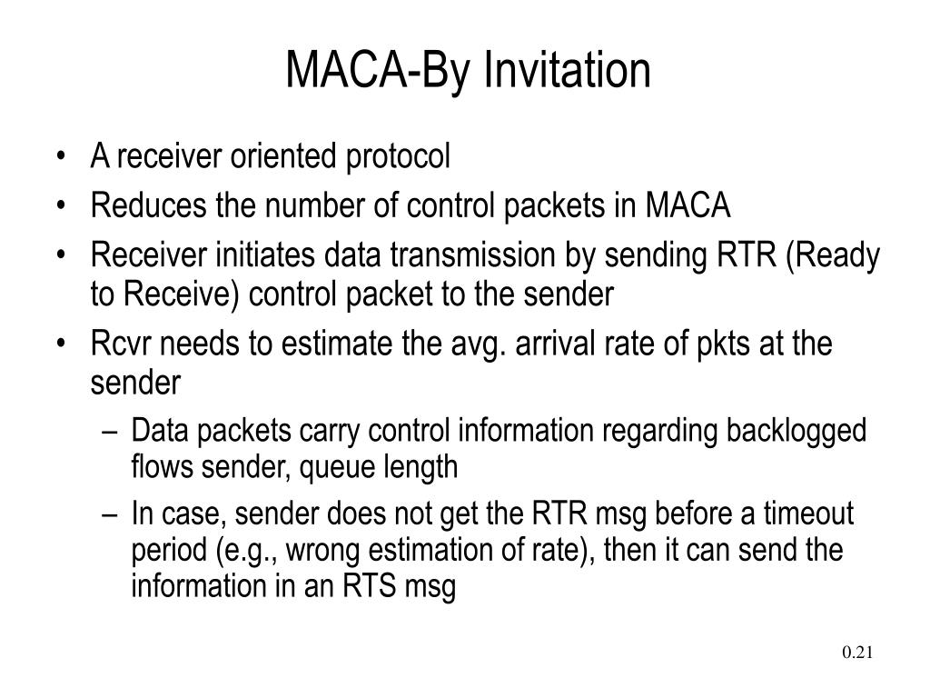 MACA-By Invitation