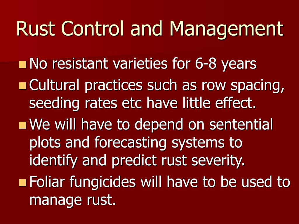 Rust Control and Management
