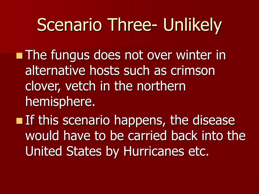 Scenario Three- Unlikely