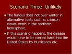 scenario three unlikely