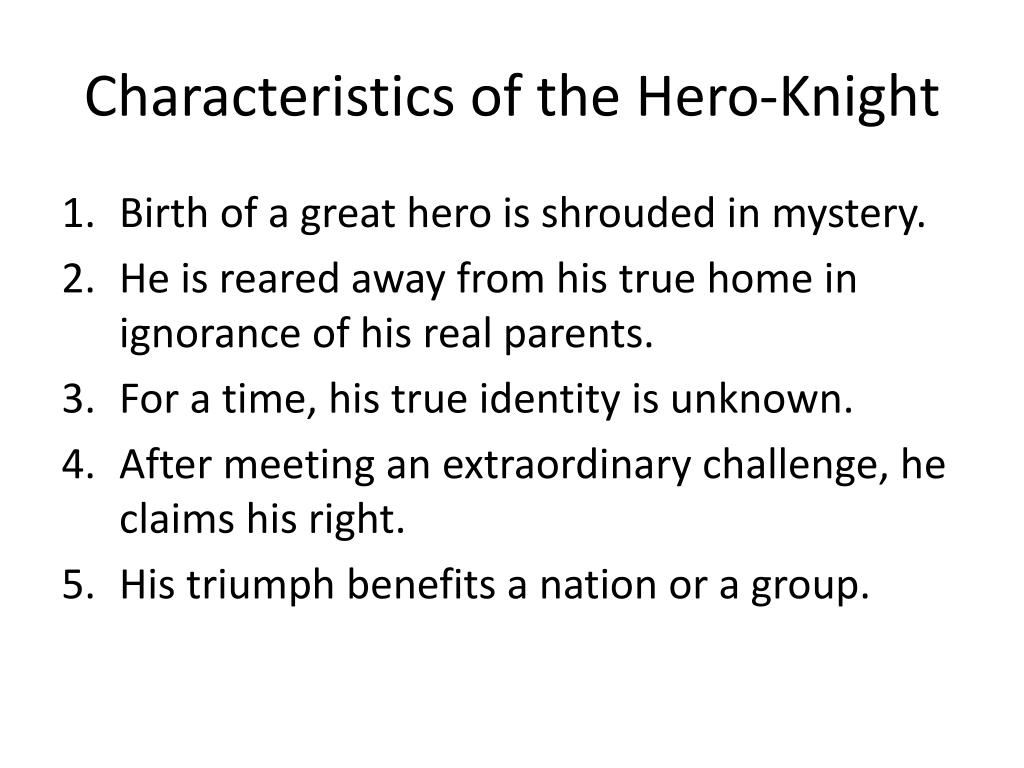 the characteristics of a hero Characteristics epics have seven main characteristics: the hero is outstanding they might be important, and historically or legendarily significant the setting is large.