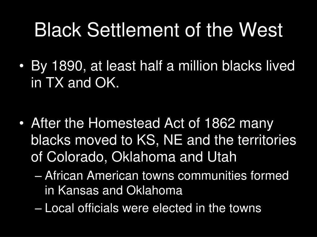 Black Settlement of the West