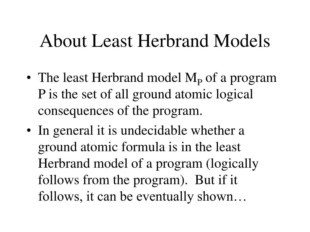 About Least Herbrand Models