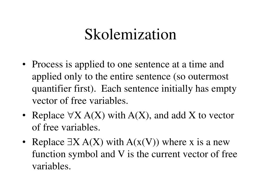 Skolemization