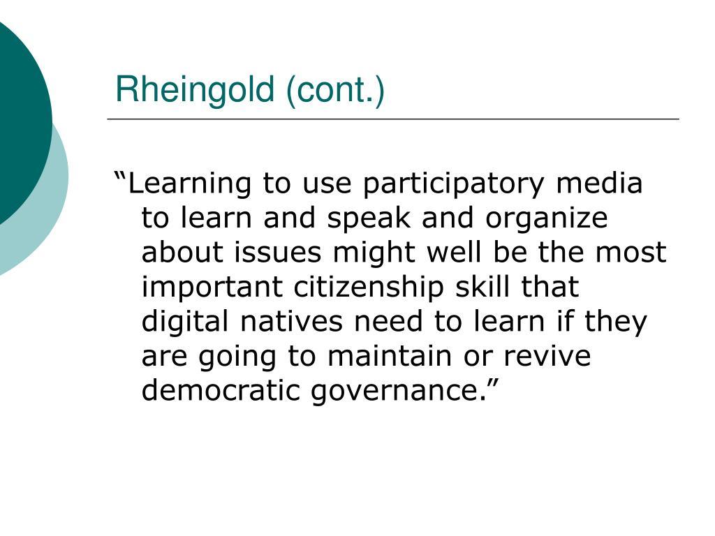 Rheingold (cont.)