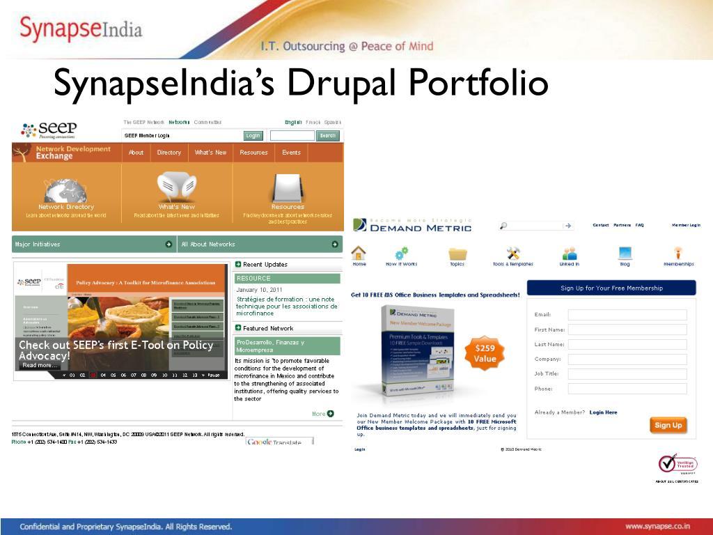 SynapseIndia's Drupal Portfolio