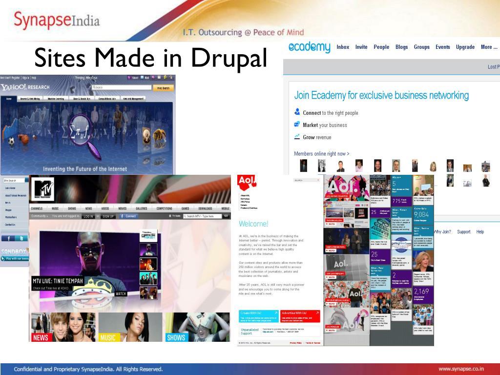Sites Made in Drupal