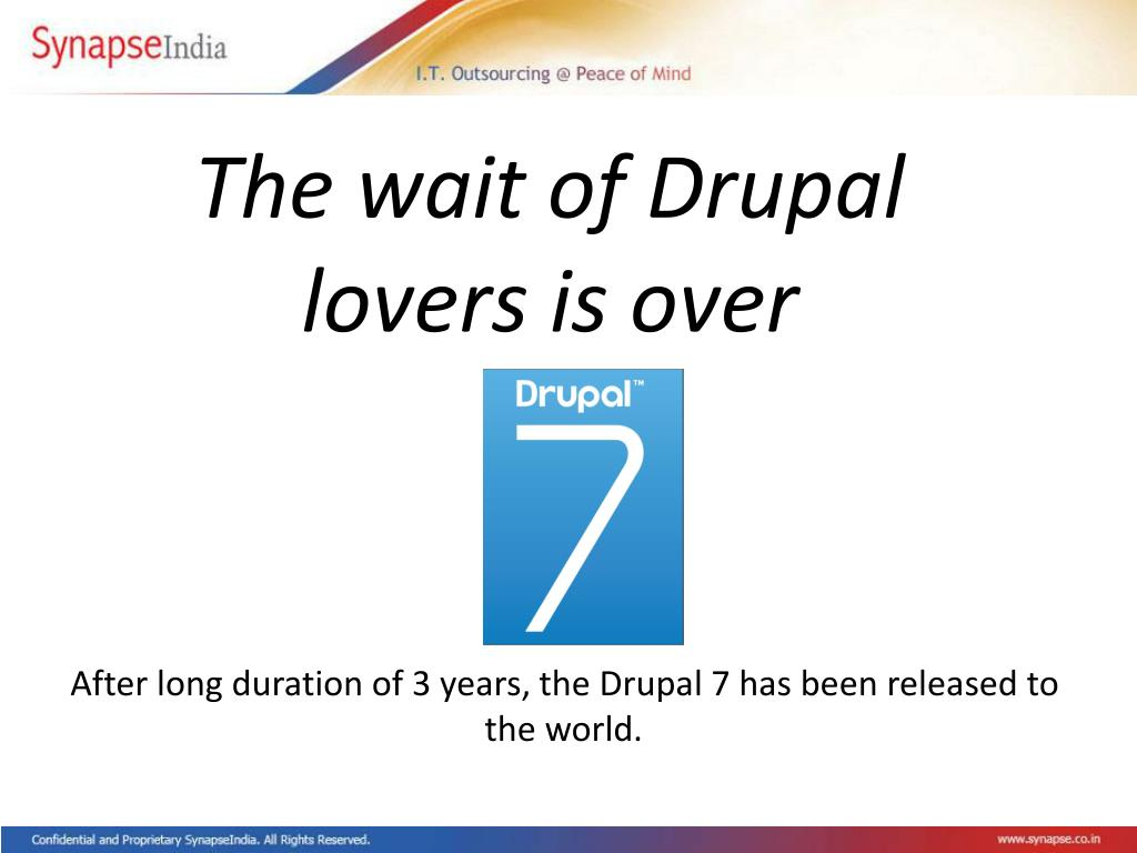 The wait of Drupal lovers is over
