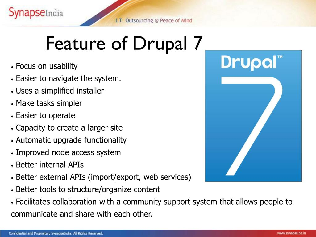 Feature of Drupal 7